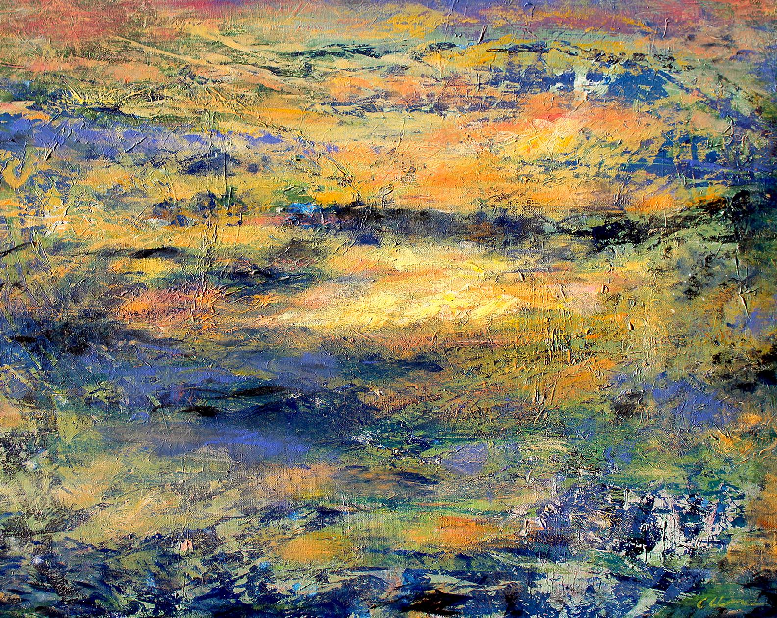 Acrylic Painting of a Sunrise