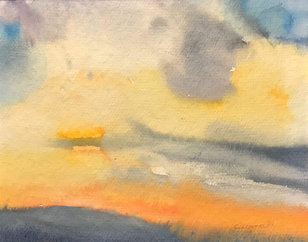 Painting I See You Beyond the Clouds