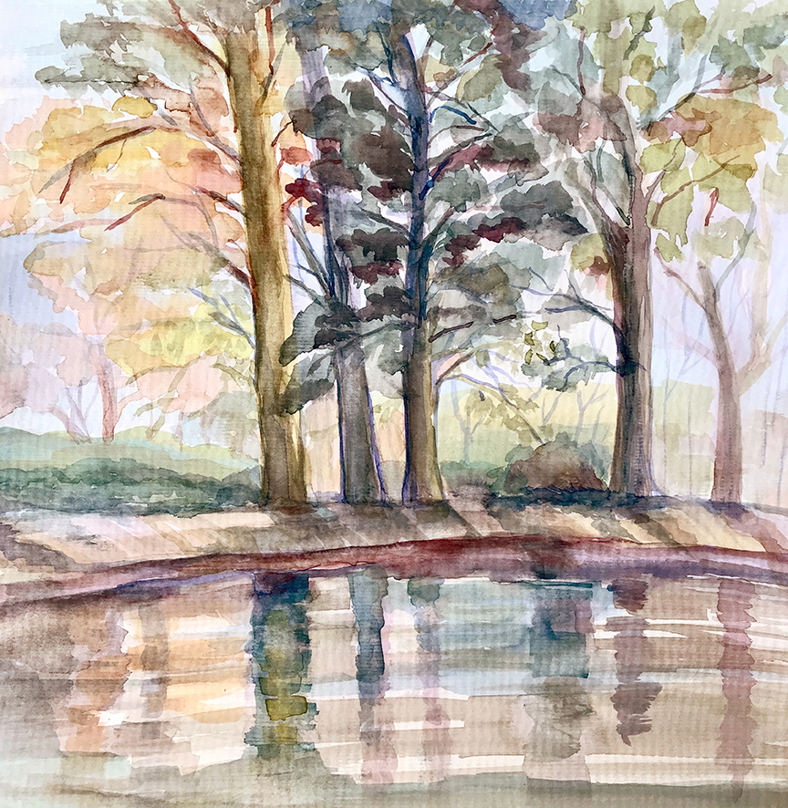 Painting I Will Meet You by the Pond