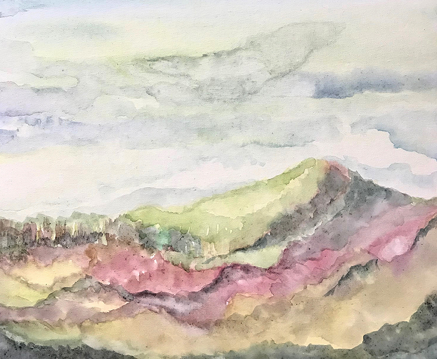 A watercolor painting from my Porch