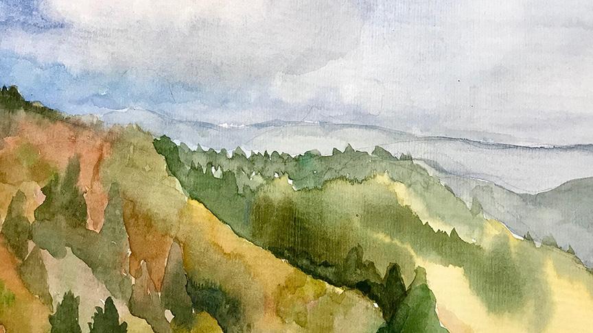 Painting Waterrock Knob