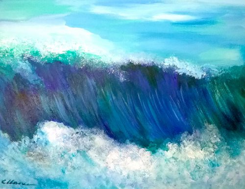 Acrylic Painting of the Big Wave
