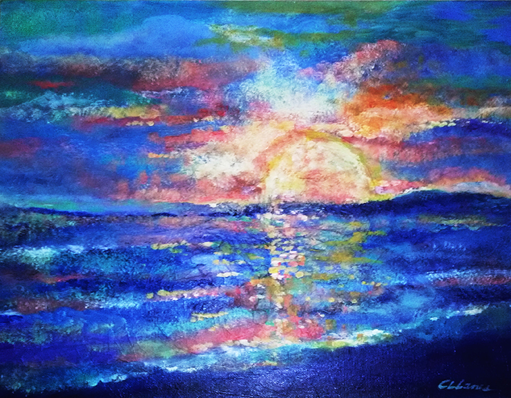 Painting of The Deep Blue Sea