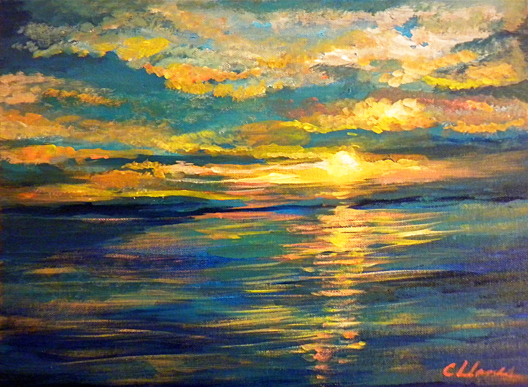 Painting of Sun and Sea