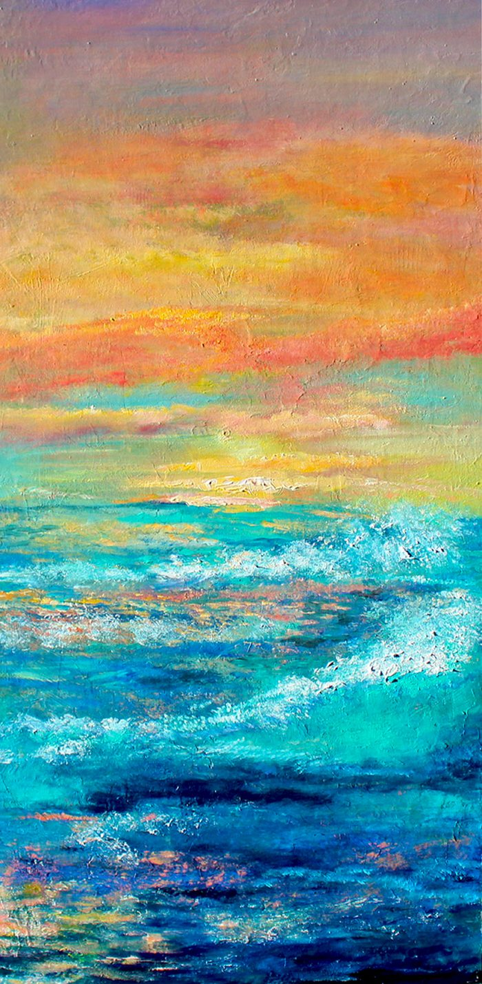 acrylic painting sun kissed embrace