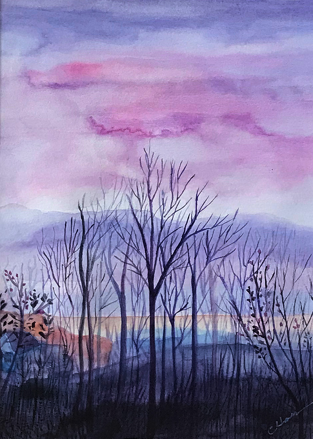 Blue Ridge Mountains in Purple hues
