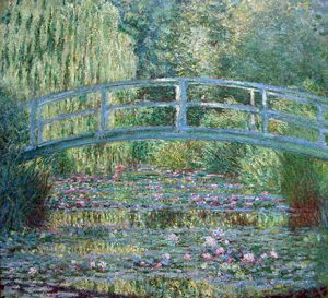 Monet's painting of his Japanese garden